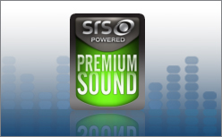 SRS Premium Sound™—natural immersive audio