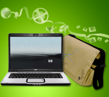 HP Notebook and bag
