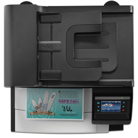 ADF on an HP LaserJet Pro CM1415fnw Color MFP