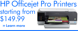 HP Officejet Pro Printers starting from $149.99 learn more