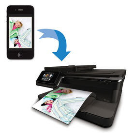 ePrint-enabled printer and smartphone