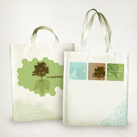 Organic iron-on on tote bags