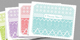 Fresh elegant thank-you notes