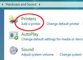 Add a printer screenshot