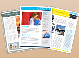 newsletter templates with photos