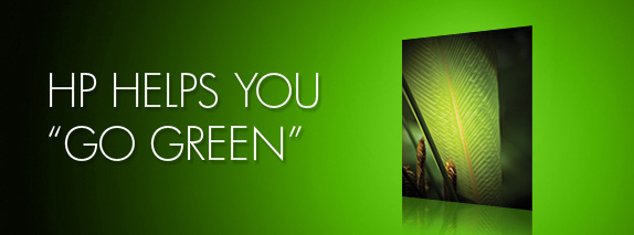HP HELPS YOU GO GREEN