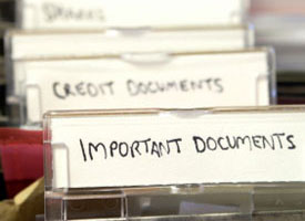 Important document files.