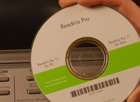 Image of OCR software disc.