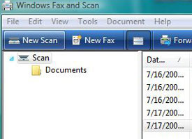 Windows Fax and Scan program
