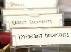"Folders labeled ""Important Documents"