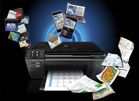 Web-connected printer illustration
