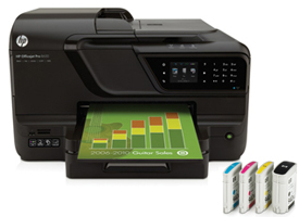 HP Officejet Pro with ink cartridges