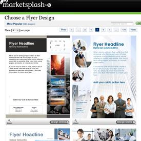 Free flyer designs from MarketSplash