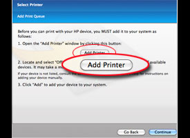 Screenshot: Add a printer