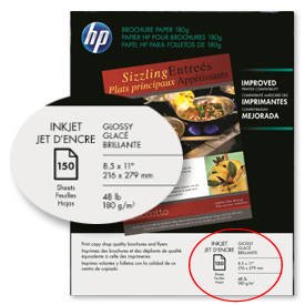 HP paper label