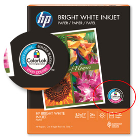 HP ColorLok label