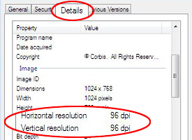 resolutions circled in red