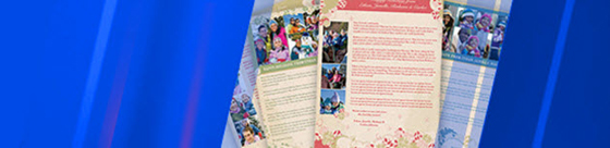 Newsletter templates with blue color wash