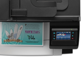 Market Splash on HP LaserJet Pro CM1415fnw
