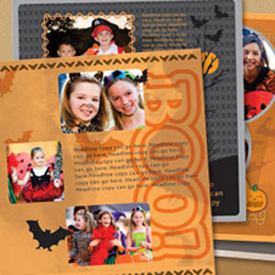 photo of Halloween scrapbook