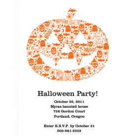 photo of halloween invitation