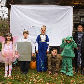 photo of kids in costume