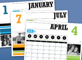 photo of HP calendar templates]