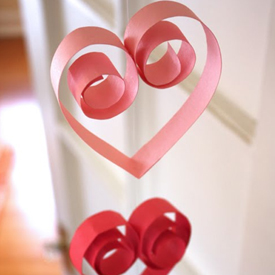 photo of heart garland
