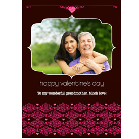 valentine photo greeting card