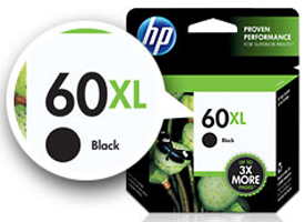 HP XL ink cartridge label