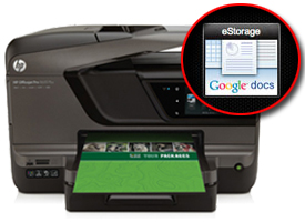 HP Officejet Pro 8600 Plus e-All-in-One with Google docs call out