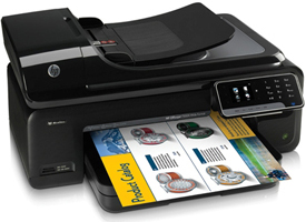 HP Officejet 7500A Wide Format e-AiO printing a brochure