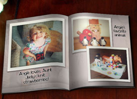 photobook of child's favorite things