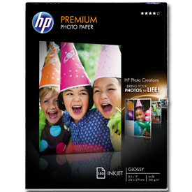 "Original HP Premium Photo Paper"" graphic"