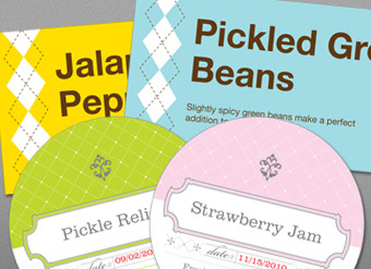 Pastel canning labels