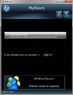 Create an HP MyRoom account