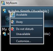 HP MyRoom status alerts