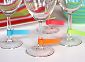 photo of wine glass tags from How About Orange