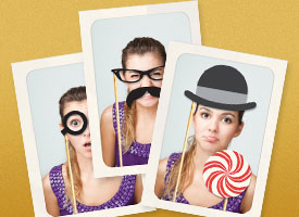 DIY photo booth photos