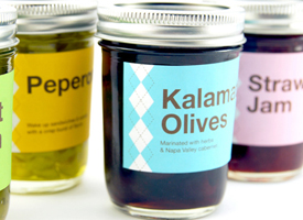 photo of jars with canning labels
