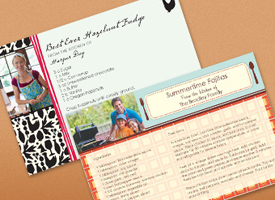printed recipe card