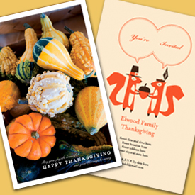 photo of Thanksgiving greeting card and invitation