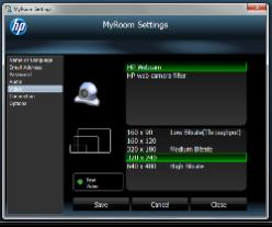 HP MyRoom settings