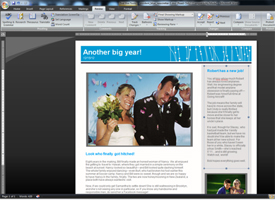 screenshot of page layout