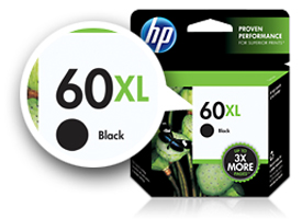 60XL ink cartridge with XL callout